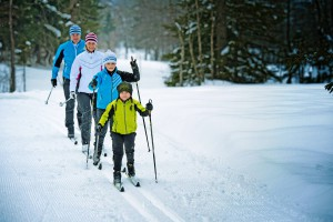 © Fischer Sports GmbH Cross-country skiing for children and adults.
